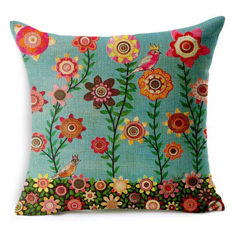 New Chic Bird and Tree Pattern Pillow Case (Without Pillow Inner)