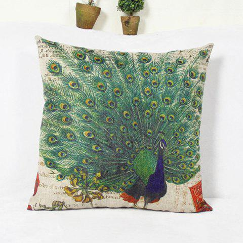 Outfit Classical Peacock  Pattern Home Hold  Decorative Pillow Case