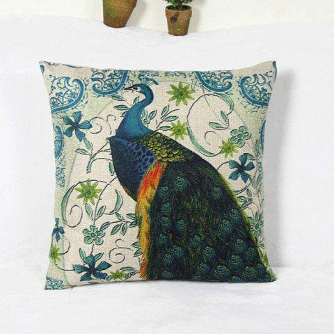 Discount Wholesale Peacock and  Blossom Pattern Home Hold  Decorative Pillow Case