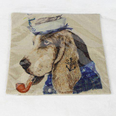 Best Charming Animal Printed Square New Composite Linen Blend Pillow Case - COLORMIX  Mobile