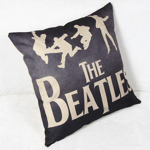 New Charming Letter Printed Square New Composite Linen Blend Pillow Case - AS THE PICTURE  Mobile