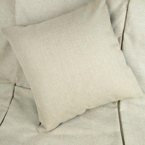 Best Charming Letter Printed Square New Composite Linen Blend Pillow Case - AS THE PICTURE  Mobile