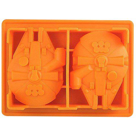 Buy Cute Millennium Falcon Shape Mold Multi-Function Silicon Ice Cube Tray - ORANGE  Mobile