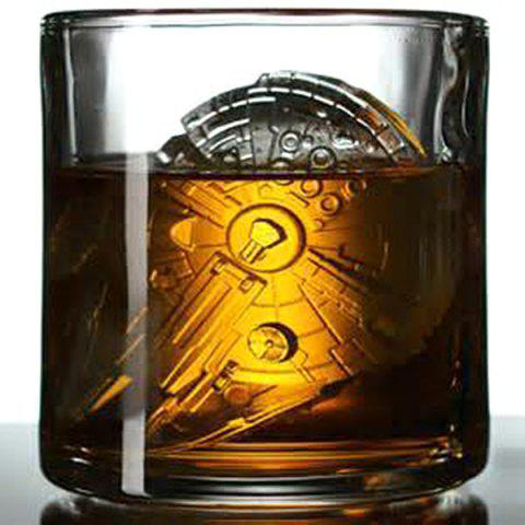 Chic Cute Millennium Falcon Shape Mold Multi-Function Silicon Ice Cube Tray - ORANGE  Mobile