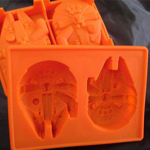 Unique Cute Millennium Falcon Shape Mold Multi-Function Silicon Ice Cube Tray - ORANGE  Mobile