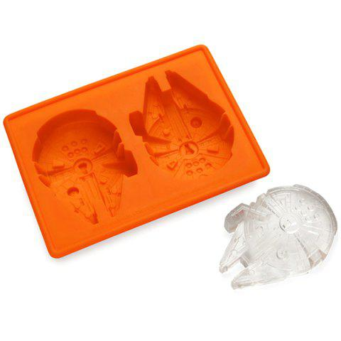 Discount Cute Millennium Falcon Shape Mold Multi-Function Silicon Ice Cube Tray - ORANGE  Mobile