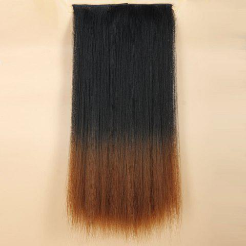 Sale Fashion Long Silky Straight Black Ombre Brown Synthetic Clip-In Hair Extension For Women - OMBRE 1211#  Mobile