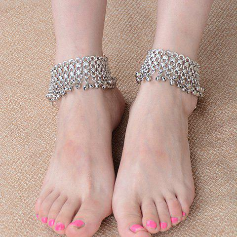 Shops ONE PIECE Delicate Layered Tiny Bell Tassel Anklet For Women
