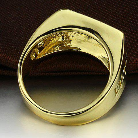 Affordable Vintage Rhinestone Hollow Out Ring - ONE-SIZE GOLDEN Mobile