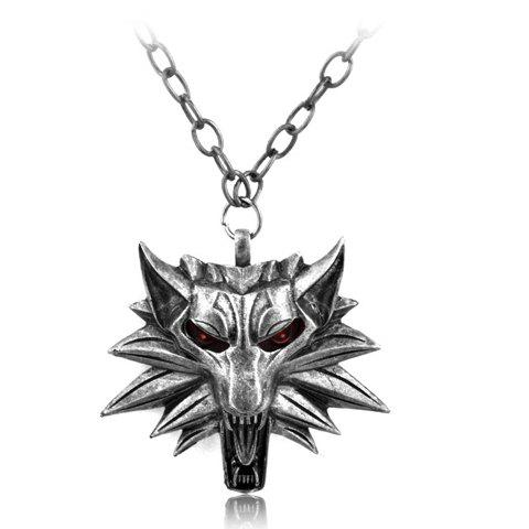 Fancy Wolf Head Shape Pendant Necklace