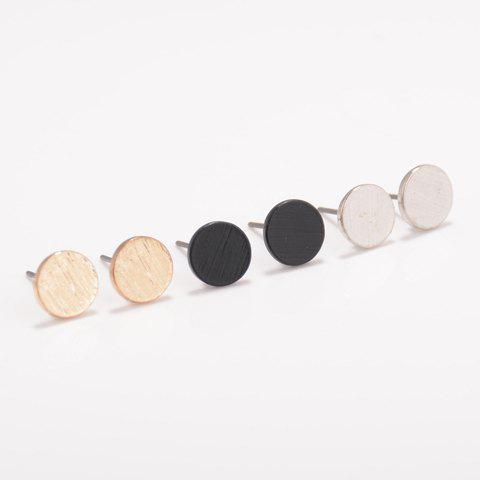Affordable Round Shape Stud Earrings RANDOM COLOR