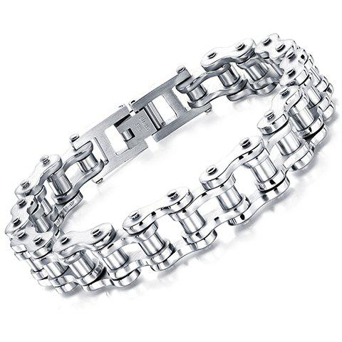 New Motorcycle Chain Bracelet WHITE ONE-SIZE
