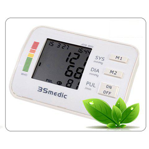 Discount JDS-800 Digital Sphygmomanometer Arm Blood Pressure Pulse Monitor for Home Office - WHITE  Mobile