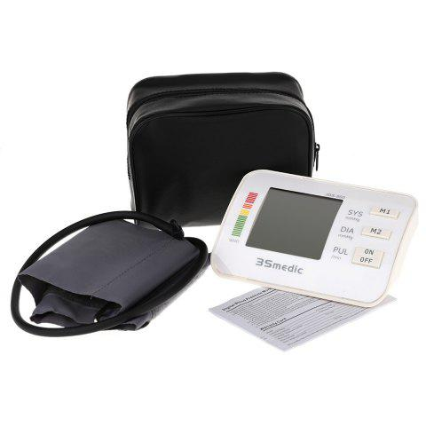 Fashion JDS-800 Digital Sphygmomanometer Arm Blood Pressure Pulse Monitor for Home Office - WHITE  Mobile
