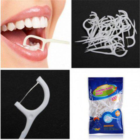 Fancy 100PCS TS-BM823 Practical Dental Floss Stick for Home