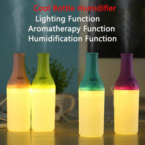 Fashion 3 in 1 Practical Mini USB Cool Bottle Humidifier / Aromatherapy Machine / LED Nightlight for Car Office Home - GREEN  Mobile