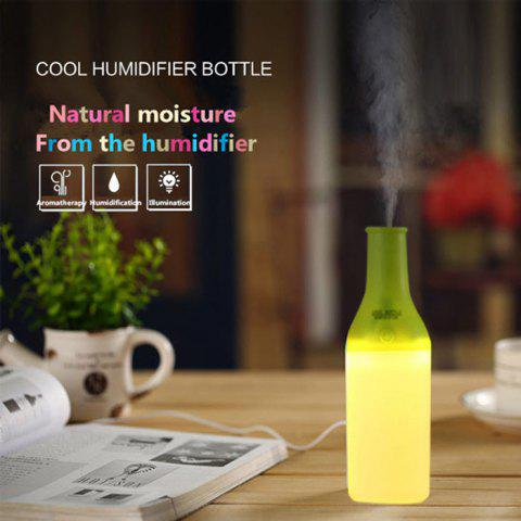Hot 3 in 1 Practical Mini USB Cool Bottle Humidifier / Aromatherapy Machine / LED Nightlight for Car Office Home - GREEN  Mobile