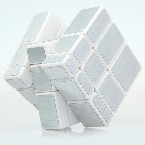 New Irregular Magic Cube 58MM 3 x 3 x 3 Solid Color Brain Teaser Educational Toy - SILVER  Mobile