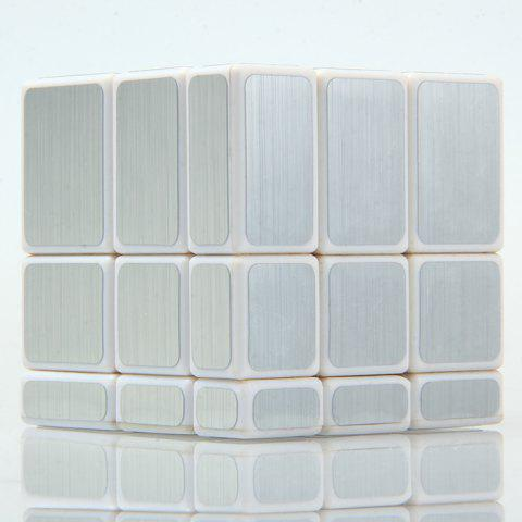 Outfits Irregular Magic Cube 58MM 3 x 3 x 3 Solid Color Brain Teaser Educational Toy - SILVER  Mobile