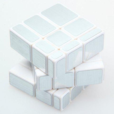 Trendy Irregular Magic Cube 58MM 3 x 3 x 3 Solid Color Brain Teaser Educational Toy - SILVER  Mobile