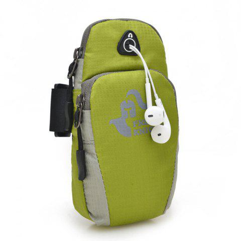 Fashion Mobile Phone Arm Bag with Double-layer Pocket Design for Jogging - GREEN  Mobile