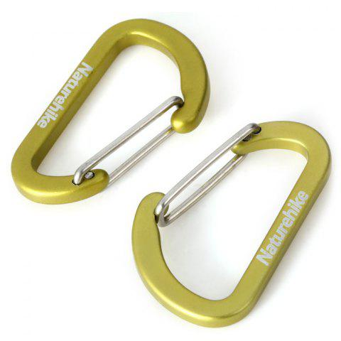 Fashion NatureHike 4cm D-shape Flat 2pcs Carabiner Stainless Steel Made