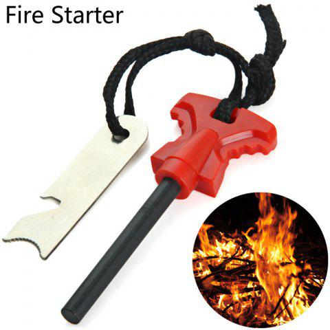 LM-3Y Multi-purpose Fire Starter with Bottle Opener Functions - RED