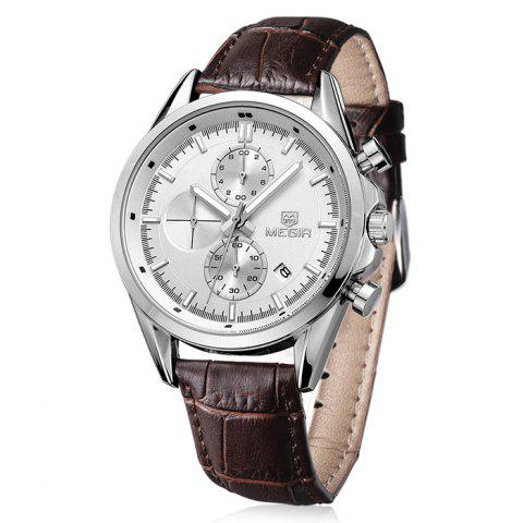 Best MEGIR 5005 Japan Quartz Watch Genuine Leather Band for Men