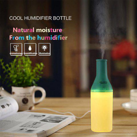 Hot 3 in 1 Practical Mini USB Cool Bottle Humidifier / Aromatherapy Machine / LED Nightlight for Car Office Home - BLUE  Mobile