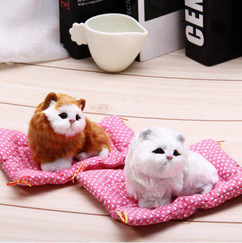 Buy Simulation Animal Sleeping Cat Craft Toy with Sound - WHITE  Mobile