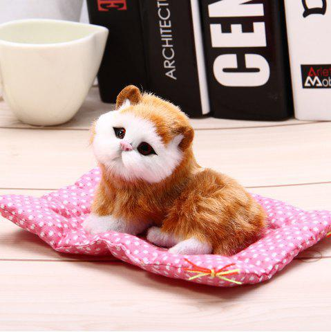 Hot Simulation Animal Squatting Cat Craft Toy with Sound