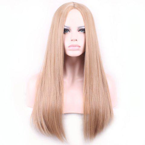 Outfits Charming Centre Parting Long Synthetic Silky Straight Capless Light Brown Wig For Women