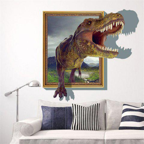 Hot 3D Dinosaur Style Removable Wall Stickers Colorful Room Window  Decoration For Bedroom Store