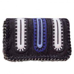 Stylish Color Matching and Chains Design Women's Crossbody Bag -