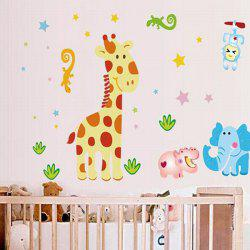 DIY Cartoon Deer Pattern Bedroom Decoration Decorative Wall Stickers -