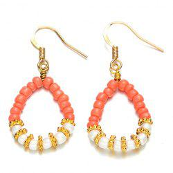 Pair of Graceful Faux Pearl Bead Waterdrop Earrings For Women -