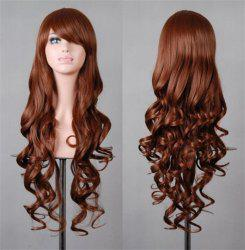 Assorted Color Harajuku Long Side Bang Fashion Fluffy Wavy Synthetic Cosplay Wig For Women