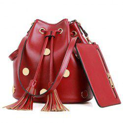 Trendy Tassel and Metal Design Women's Shoulder Bag -