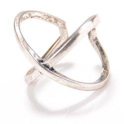 Vintage X Shape Cuff Ring - SILVER ONE-SIZE