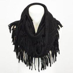 Chic Hollow Out Small Hole Tassel Knitted Neck Warmer For Women -