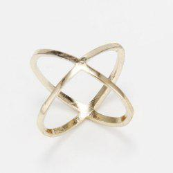 Simple Solid Color X-Shaped Finger Joint Ring For Women -