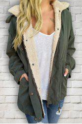 Casual Convertible Hooded Thick Fleece Coat For Women -
