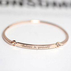 Engraved Polished Bracelet -