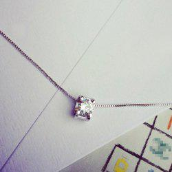 Simple Style Rhinestone Square Necklace For Women -