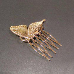 Sweet Solid Color Butterfly Hair Comb For Women - GOLDEN