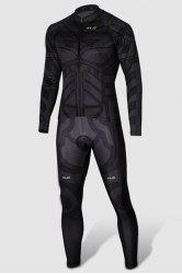 Close-Fitting Stand Collar Batman Costume Long Sleeve Men's Cycling Suit (Jacket+Pants) -