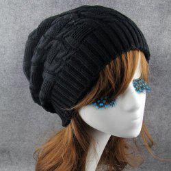 Chic Solid Color Winter Knitted Beanie For Women