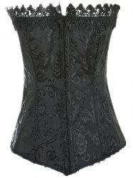 Stylish Laced Solid Color Corset For Women -