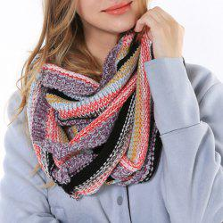 Chic Multifunctional Colorful Loop Knitted Scarf For Women