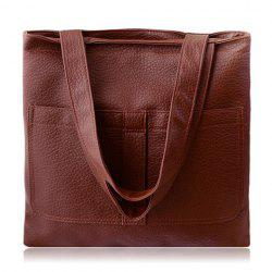 Retro Embossing and Solid Color Design Women's Shoulder Bag -